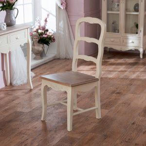 Cream Wooden Ladder Back Dining Chair - Country Ash Range