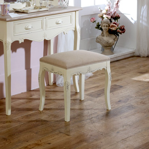 Cream Padded Dressing Table Stool - Country Ash Range