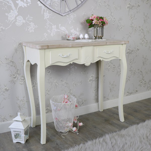 Cream 2 Drawer Dressing Table - Belfort Range