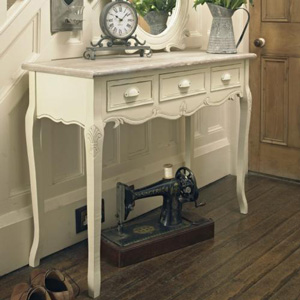 Cream Wooden Console Hallway Table with Drawers - Country Ash Range