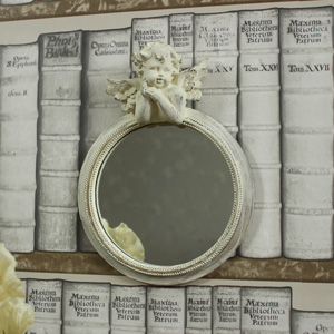 Cream Cherub Wall Mirror
