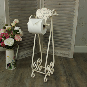 Cream 'La Toilette' Toilet Roll Holder Stand