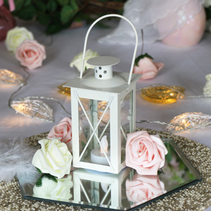 Cream LED Candle Lantern