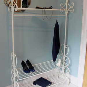 Cream Ornate Clothes Rail