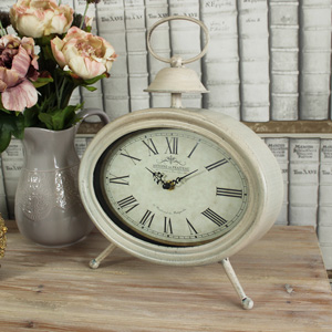 Cream Oval Mantel Clock