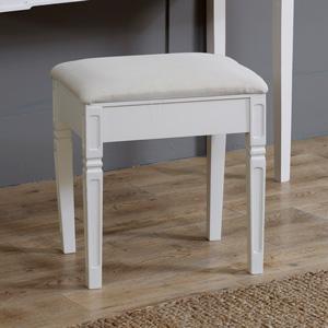 Cream Padded stool - Lyon Range