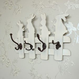 Cream Rabbit Wall Hooks