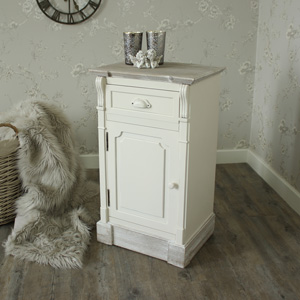 Cream Right Hand Bedside Cabinet - Lyon Range