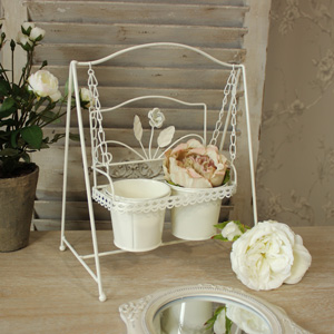 Cream Swinging Planter