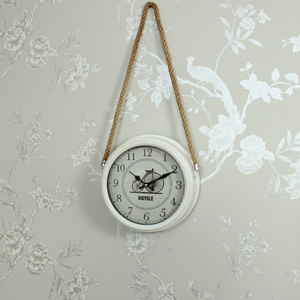 Cream Vintage Metal Wall Clock