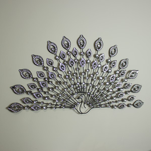 Crystal Large Peacock Wall Art