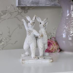 Cute Dancing Bunny Rabbits Ornament