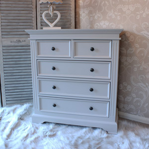Daventry Range - Grey 5 Drawer Chest
