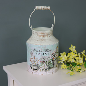 Decorative Vintage Style Metal Churn
