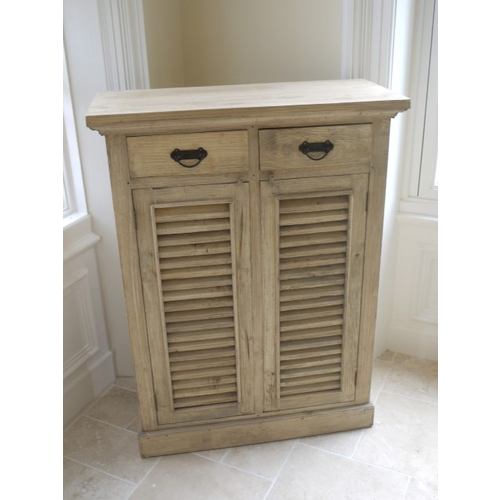 Devon Range - Natural Wood 2 Drawer Storage Cabinet