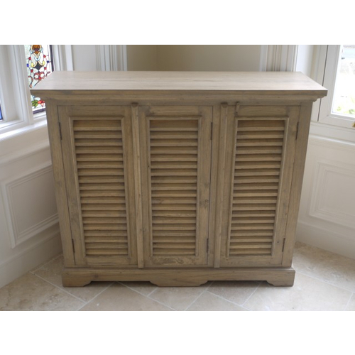 Devon Range - Natural Wood 3 Door Sideboard