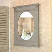 Grey French Style Wall Mirror