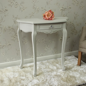 Elise Grey Range - Half Moon Console Table