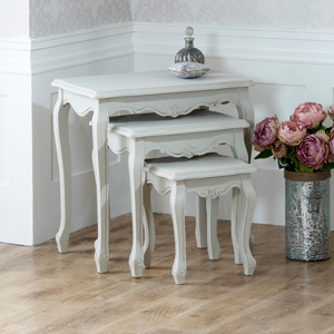 Elise Grey Range - Nest of  3 Tables