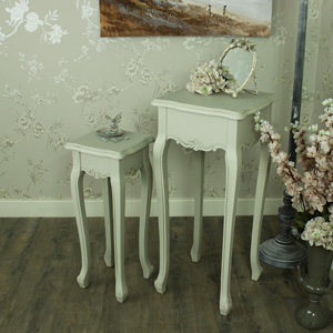 Elise Grey Range- Set of two Plant tables