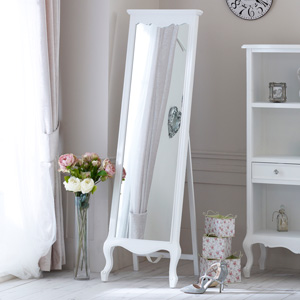 Elise White Range - Cheval Mirror