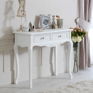 Two Drawer Console Table - Elise White Range