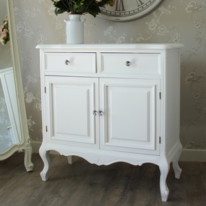 Two Drawer Sideboard With Cupboards - Elise White Range