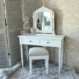 Eliza White Range - Dressing Table, Stool and Swing Mirror