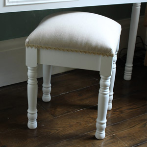 Eliza White Range - Padded Stool