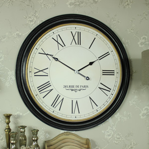 Extra Large Wooden Station Wall Clock