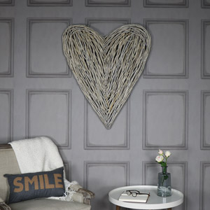 Extra Large Wicker Wall Mountable Heart