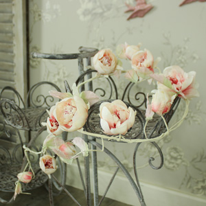 Fabric Vintage Blush Pink Rose Garland