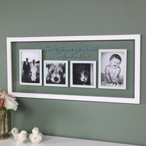 """""""Family"""" Wall Mounted Glass Photograph Frame"""