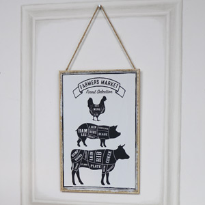 Farmers Market Wooden Wall Plaque