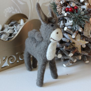 Felt Nativity Donkey