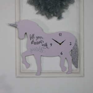 'Fill your dreams with sparkle' Unicorn Wall Clock