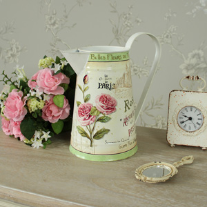 Floral French Rose metal jug