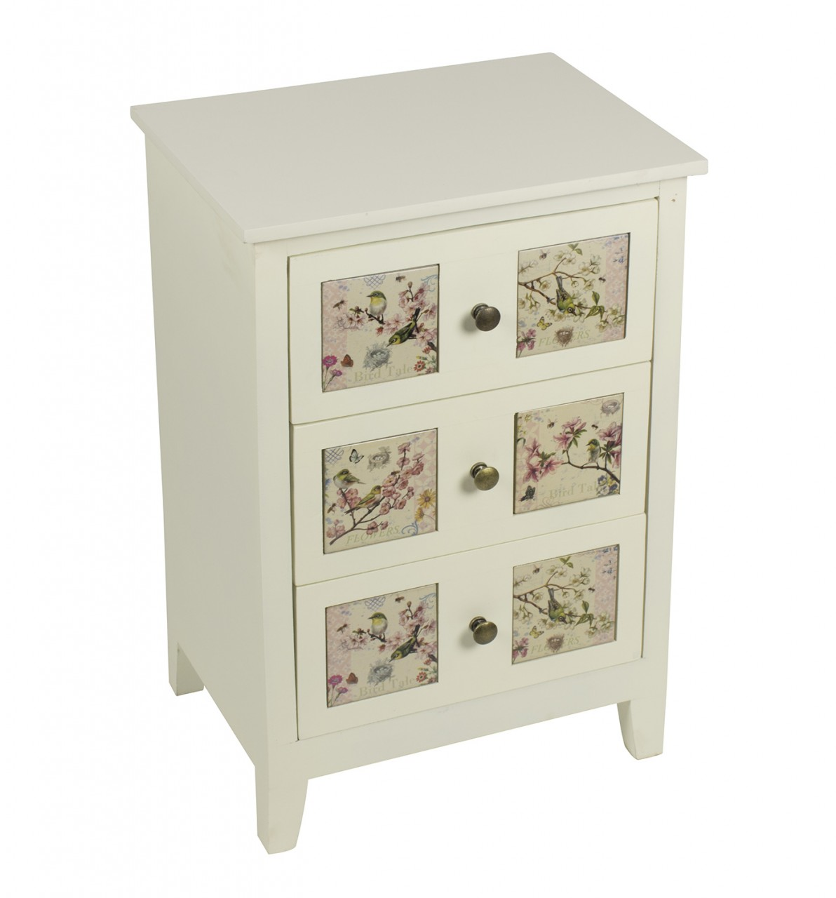 Floral Fronted 3 Drawer Chest of Drawers