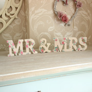 Floral Mr & Mrs Standing Letters