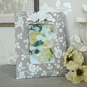 Floral Rose Fabric Photograph Frame
