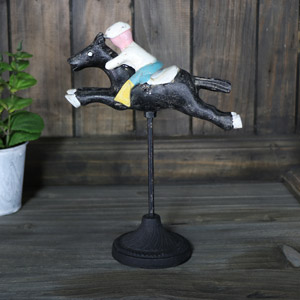 Free Standing Derby Race Horse Ornament
