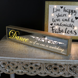 Freestanding LED Plaque 'Dance......'