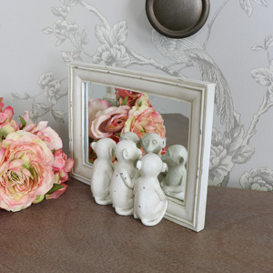 Freestanding Three Monkeys Mirror