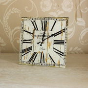 French Style Glass Table Clock