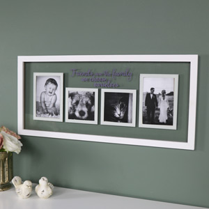 """""""Friends"""" Wall Mounted Glass Photograph Frame"""
