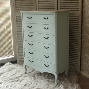 Genevieve Range - Tall Six Drawer Chest