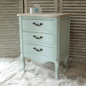 Genevieve Range - Three Drawer Bedside Chest