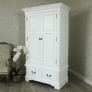 Georgiano Range - White Double Wardrobe