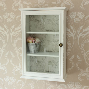 Glazed Wall Shelf Unit