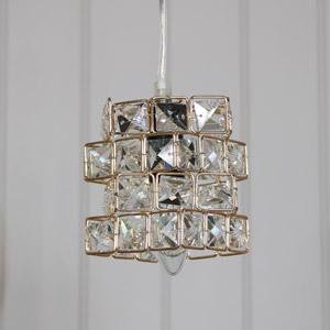 Gold Jewelled Cube Pendant Light
